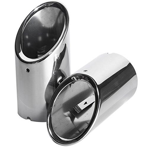 Yuzlder - Tubi di scarico in acciaio inox, 2 pezzi (compatibilità non garantita con veicoli con guida a sinistra) 2 pezzi (compatibilità non garantita con veicoli con guida a sinistra)
