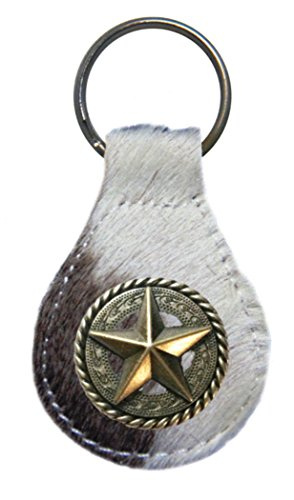 - Fancy Rope and Star leather key fob or keychain