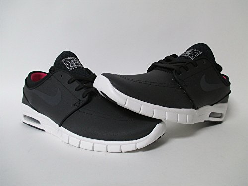 Nike Stefan Janoski Max L, Zapatillas de Skateboarding para Hombre, Negro / Blanco / Rosa (Blk / Anthrct-Smmt Wht-Hypr Pnk), 37 EU