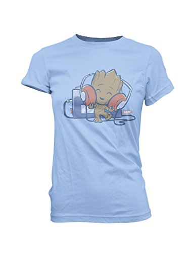 Funko Guardians Of The Galaxy Groot With Tape Deck Super Cute Juniors Tee Shirt Medium