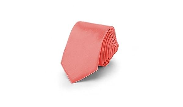 OM3 - Corbata - para hombre rojo salmón Talla única: Amazon.es ...