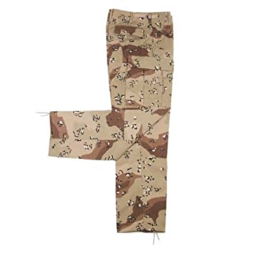 25a7659fbe8 Military BDU Ripstop Trousers Mens Combats Army Cargo Pants 6-Colour Desert  Camo SIZE L  Amazon.co.uk  Sports   Outdoors