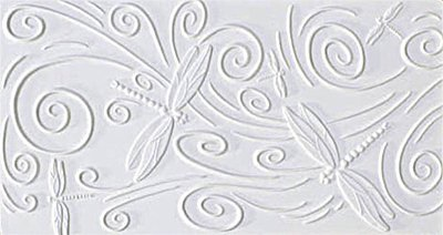 Dragonfly Texture Tile Mold for Glass (Glass Fusing Textured Tile Mold)