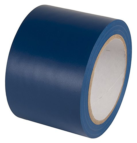 INCOM Manufacturing: Vinyl Aisle Marking Conformable Tape, 3 x 180, Safety Blue- Ideal for Walls, Floors, Equipment