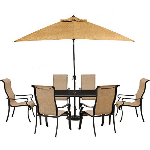 Hanover Brigantine 7-Piece Dining Set Tan BRIGDN7PC-GLS-SU