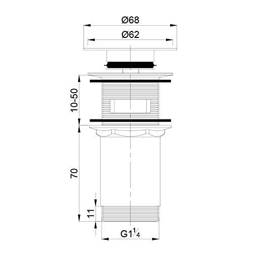 Sink Waste Basin Click Clack Plug 3 x Spare seal Brand: OMNIRES/® AQUABAD/® Bathroom Basin Pop Up
