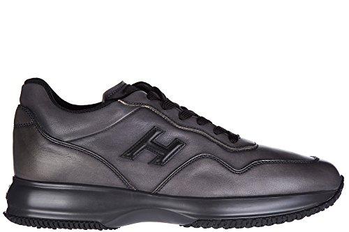 Hogan chaussures baskets sneakers homme en cuir interactive h 3d gris
