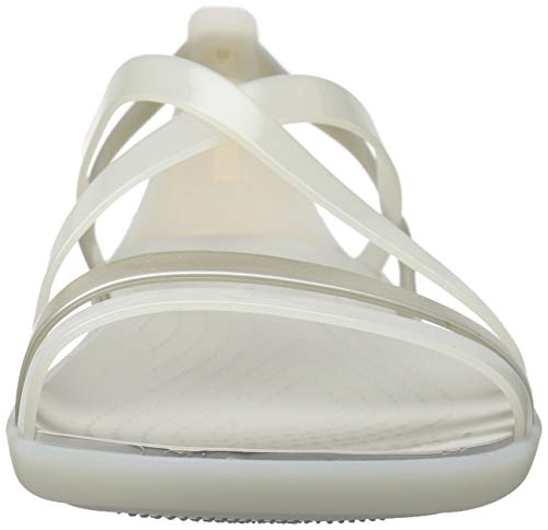 Crocs White Isabella W Sandalias Oyster Para pearl Sandal Mujer aBaCw1q4