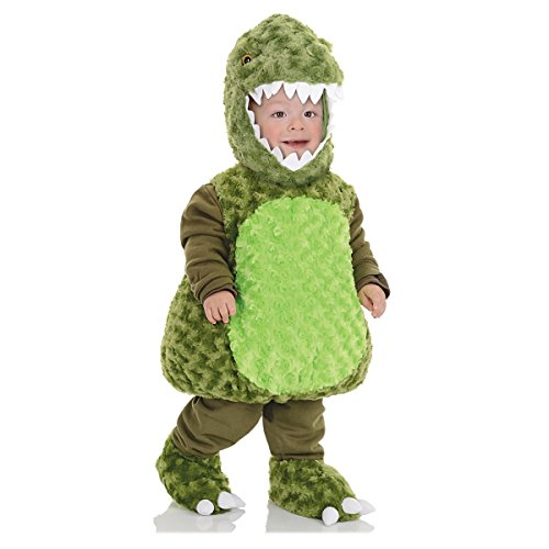 Underwraps Toddler's T-Rex Belly Babies Costume, Green, Medium