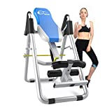 XPH Heavy Duty Inversion Therapy Table Inversion Table for Back Pain Adjustable Therapy Folding Fitness Table with Back Pain Relief Gravity Inversion Tables for Home Use Sports Equipment (Blue)