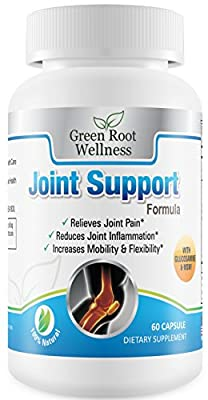 Natural Joint Support Supplement - Relieves Joint Pain & Improves Mobility - Contains Glucosamine, MSM, Turmeric, Yucca & Collagen - Green Root Wellness
