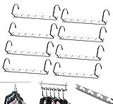 8 Pcs Space Saving Hangers Magic Hangers Metal Heavy Duty Hooks Closet Clothing Hanger Organizer, 10 inch