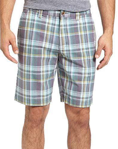 Madras Bermuda - Tommy Bahama Maseo Madras Golf Bermuda Shorts (Color: Balsam Green, Size 38)