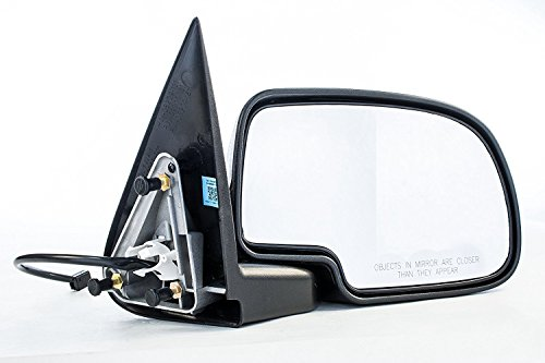 Passenger Side Mirror for Avalanche Chevy Silverado GMC Sierra 1500 2500 HD 3500 (1999 2000 2001 2002) Right Chrome Non-Heated Folding Outside Rear View Replacement Door Mirror -