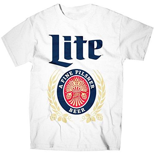 Vintage Miller Lite White T Shirt Large Import It All