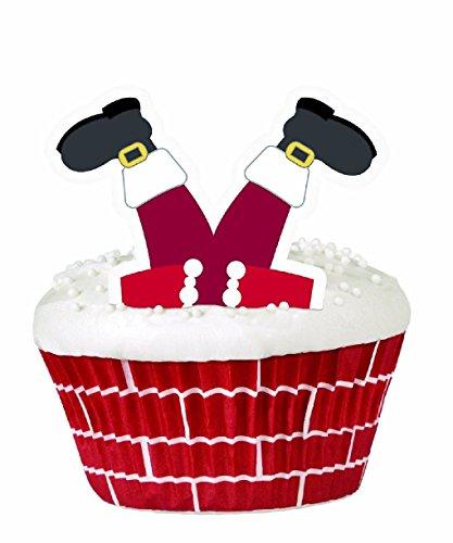 Christmas Santa Cupcake Decorating Kit Holidays 415-1820 -