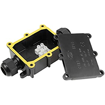 Waterproof Plastic Cable Wire Connector Gland Electrical Junction Box 3Way YE
