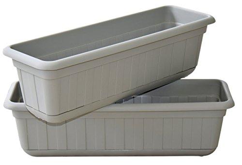 Shamrock Planter (Premium High-Density Plastic Planter & Flower Window Box Gina 18