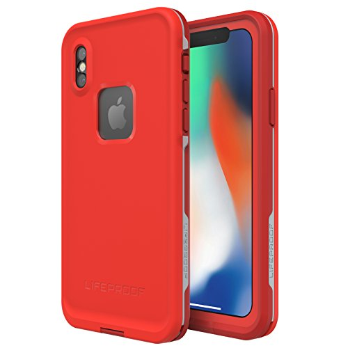 LifeProof FRE Series Waterproof Case for iPhone X - Fire Run (Cherry Tomato/Sleet/Molten Lava) -