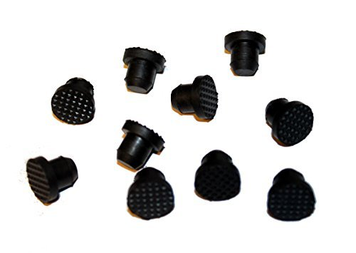 Black Rubber Buttons Piano Cabinet Bumpers 1/2