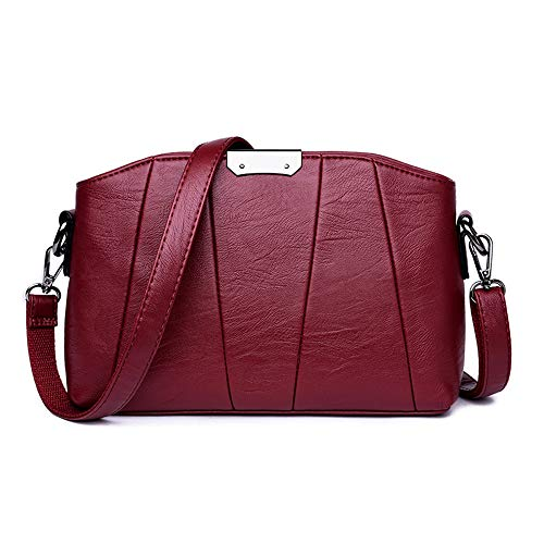 Bolsos Messenger ladies bag Red XNQXW Women's bag large capacity shoulder Wine bag bag fashion female bandolera Messenger fTTqzcdB
