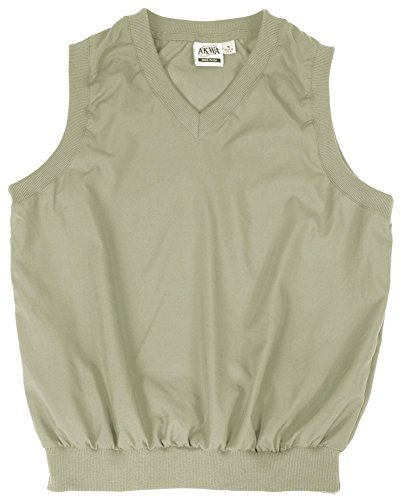 Akwa Made in USA Men's Microfiber Water Repellent V-Neck Pullover Vest ()