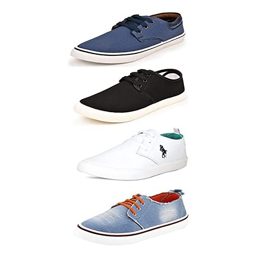 SCATCHITE Mens Canvas Casual Shoes Pack Of 4