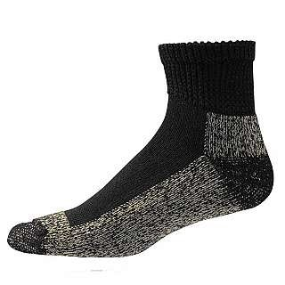 Aetrex Copper Non Binding (Aetrex Copper Sole Socks - Extra Cushion Non Binding BLACK - X-LARGE - ANKLE)