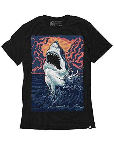 (INTO THE AM Great White Men's Graphic Tee Shirt (X-Large))