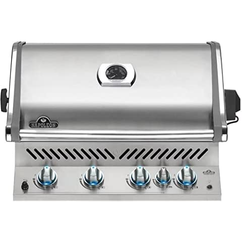 Napoleon Prestige Pro 500 Built-in Natural Gas Grill With Infrared Rear Burner - Deluxe Natural Gas Grill
