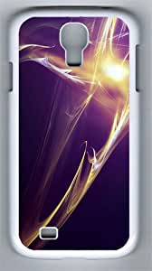 Purple Yellow Abstract Art Custom Samsung Galaxy S4 I9500 Case Cover ¨C Polycarbonate ¨C White