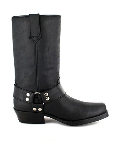 adulto Negro Unisex negro botas estilo FashionBU2005 motero qP8x7R8fw