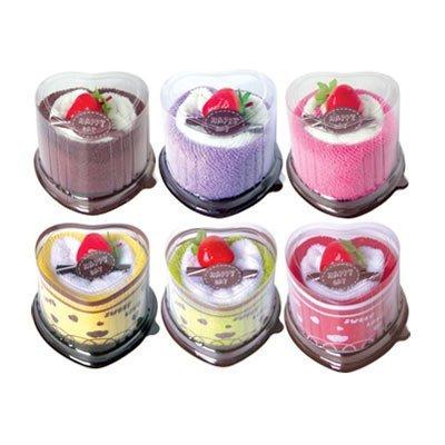 niceeshop(TM) Toallas de Pastel de la Fresa de Corazón Dulce Linda (Color