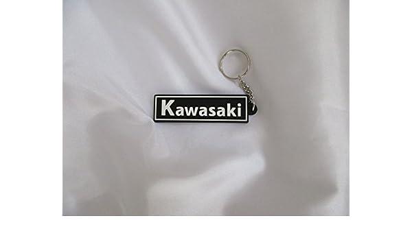 Llavero Kawasaki (tamaño 7 cm x 2 cm O. Anillo O. Cadena de ...