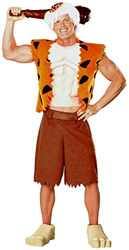 Rubie's Adult Deluxe BAMM BAMM Costume - XL (Pebbles And Bam Bam Halloween Costumes Toddler)