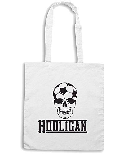 T-Shirtshock - Bolsa para la compra WC0559 Soccer Hooligan Blanco