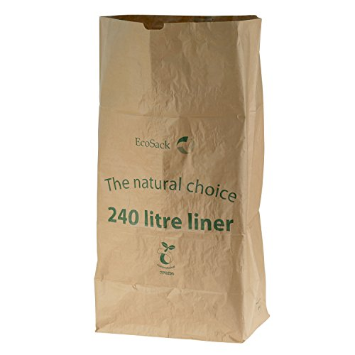 All-Green 240 liter (240L) composteerbare papieren vuilniszakken, 10 vuilniszakken