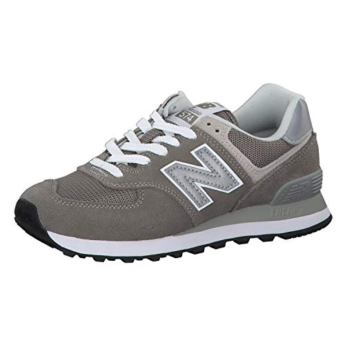 New Balance WL574 Women's Classic Running Shoe, Size: 8 Width: B Color: Grey/White