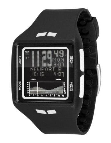 Vestal Men's BRG002 Brig Tide and Train Black and White Digital Polyurethane Surf Watch