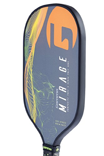 Gamma Mirage Composite Pickleball Paddle: Pickle Ball Paddles for Indoor & Outdoor Play - USAPA Approved Racquet for Adults & Kids - Orange/Green by Gamma (Image #3)
