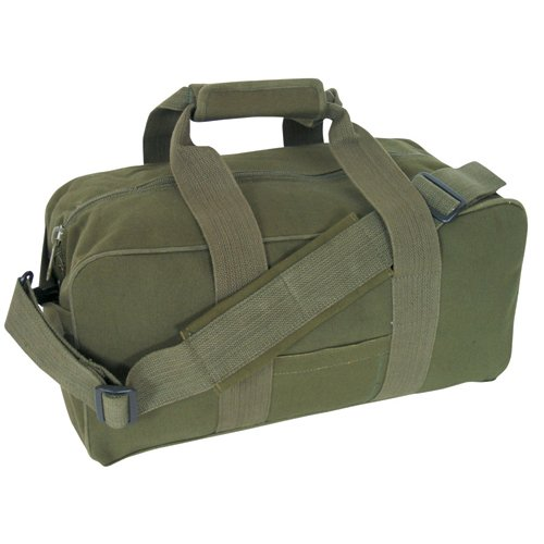 - Fox Outdoor Products Canvas Gear Bag, Olive Drab, 9 x 18-Inch