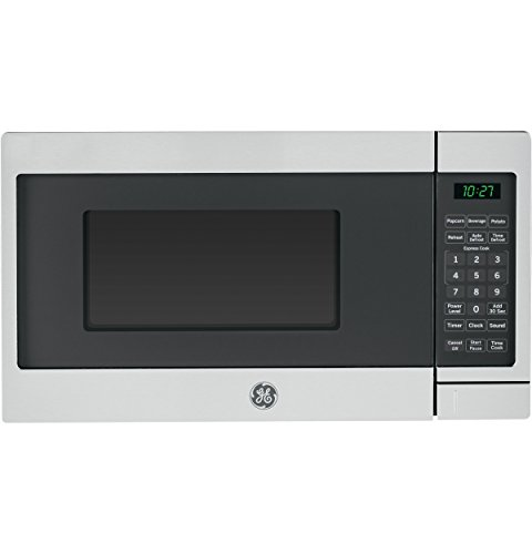 (GE JES1072SHSS 0.7 Cu. Ft. Capacity Countertop Microwave Oven with Auto and Time Defrost, in Stainless Steel)
