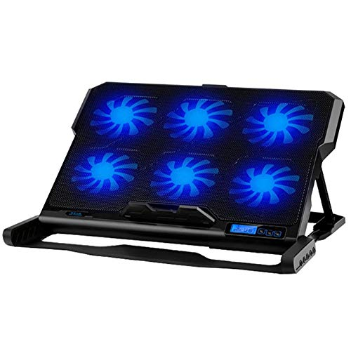 ICE COOREL K6 2 USB Laptop Cooler 6 Cooling Fan Notebook Holder (Black) from Vipeco