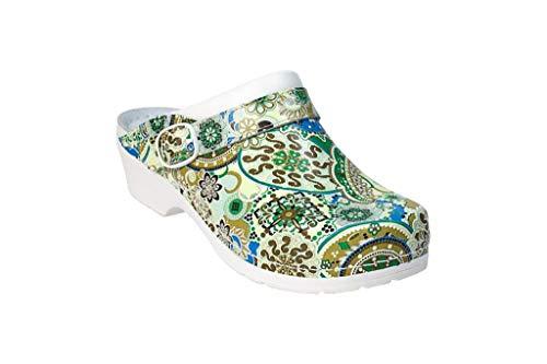 donne Awc Grün Per Shoe Deko Heeled Multicolor le fnI6Oq