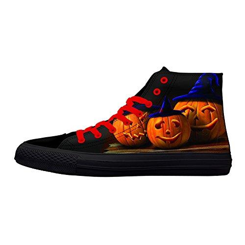 Premières Chaussures De Toile De Danse Mignonne Halloween Party Citrouille Impression Sneaker Haut Haut