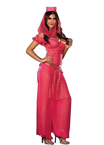 [Sexy Belly Dancer Arabian Princess Jasmine Halloween Costume (S)] (Halloween Jasmine Costume)