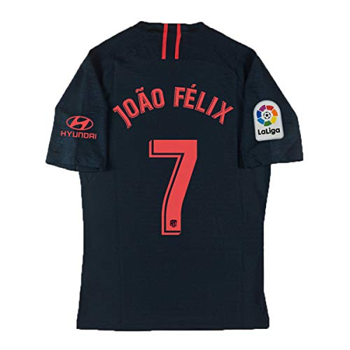 QKMKO New Atletico Madrid Felix Jersey # 7 2019-2020 Away Soccer Jersey Black (M)
