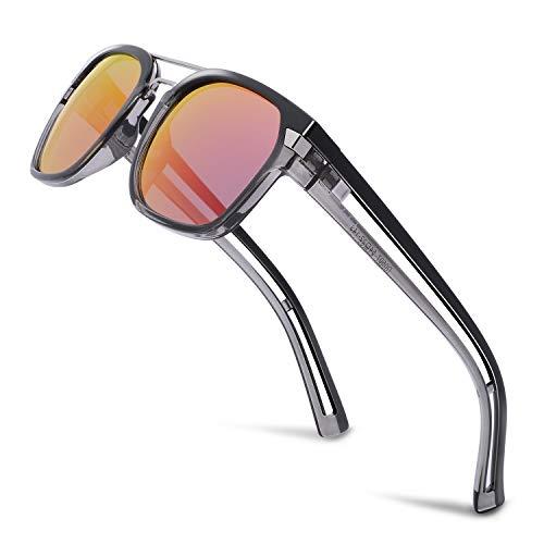 Donahugh Designer Sunglasses Fashion Polarized Mirrored Lens Hip Hop Sunnies For Men Or -