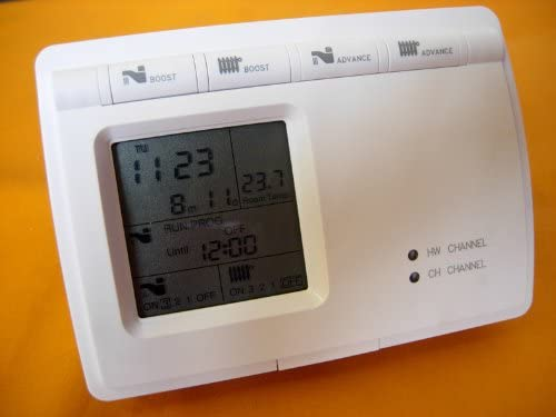 Digital Programmer Boiler Central Heating /& Hot Water Room Thermostat