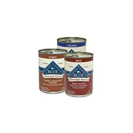 Blue Buffalo Homestyle Canned Variety Pack Dog Food (Beef, Turkey, Chicken) 12pack/ 12.5 oz